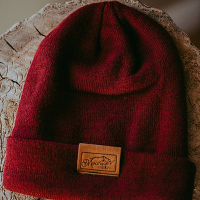 The Bruce | Burgundy Mountain Girl Toque