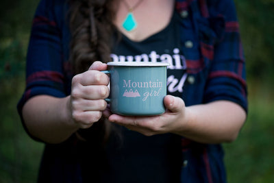 Mountain Girl Camping Mug