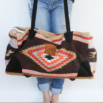 Orange + Brown Adventure Bag