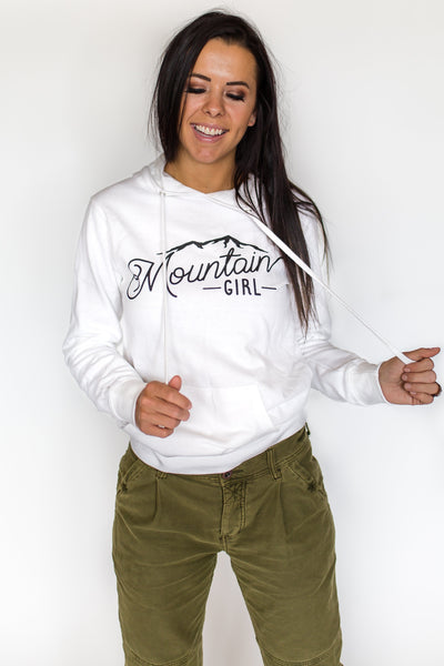 Mountain Girl Hoodie - White