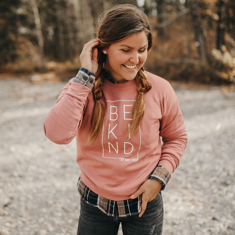 BE KIND Mauve Crew