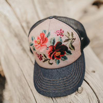 Flower Trucker Hat