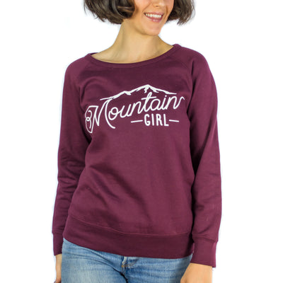 Burgundy Mountain Girl Crew