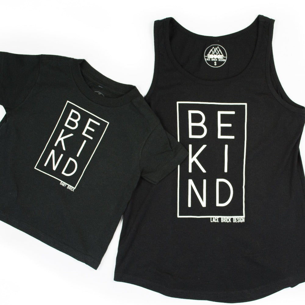 Be Kind Adult Tank + Toddler/Youth T-Shirt