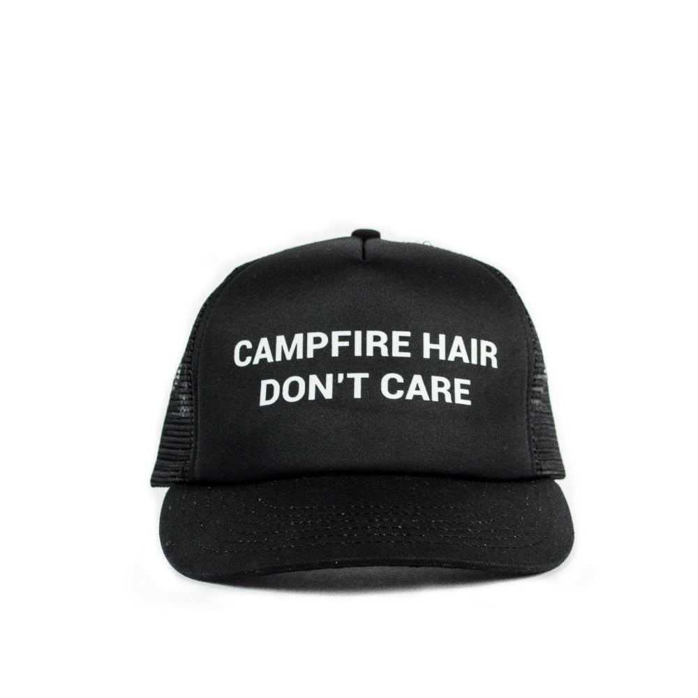 Campfire Hair Don't Care Trucker Hat LIMITED RELEASE