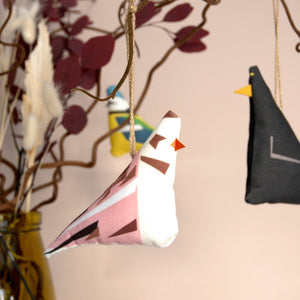 Snow Bunting Hanging Decoration