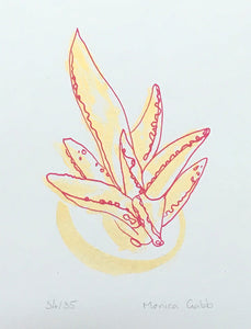 House Plant Screen Print - Succulent 2