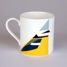 Load image into Gallery viewer, Fine Bone China Mug with Geometric Blue tit design