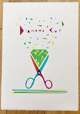 Scissor Print - Diamond Cut