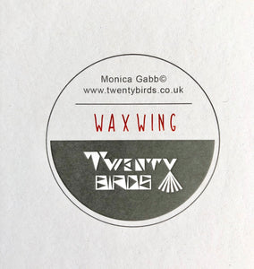 Square Card - Waxwing