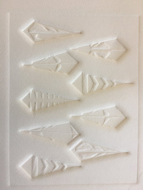 Original Embossing - Cathy's Feathers - Unframed