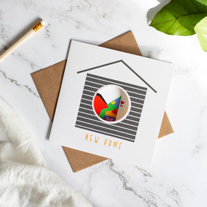 Birdhouse Card - New Home