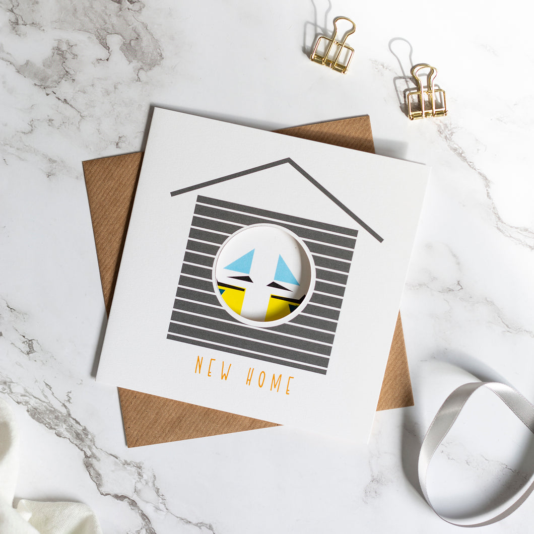 Birdhouse Card - New Home Couple