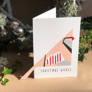 Christmas 'Sticky-Out' Card - Partridge Tail
