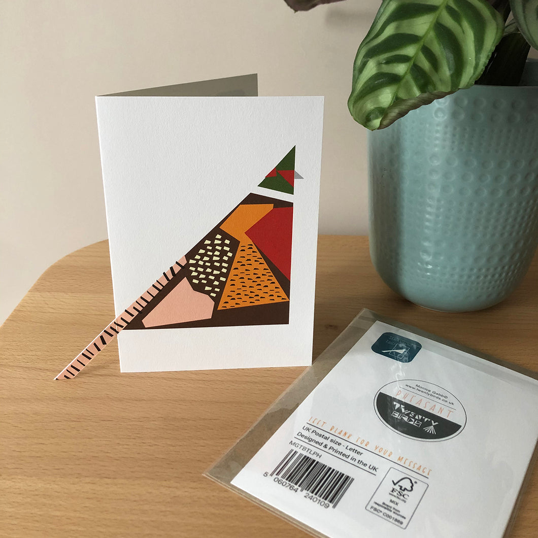 'Sticky-out' Card - Pheasant