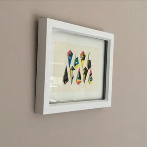 Original Screen Print - Feathers Full colour- Framed