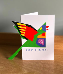 Small 'Sticky-Out' Card - Rainbow Lorikeet
