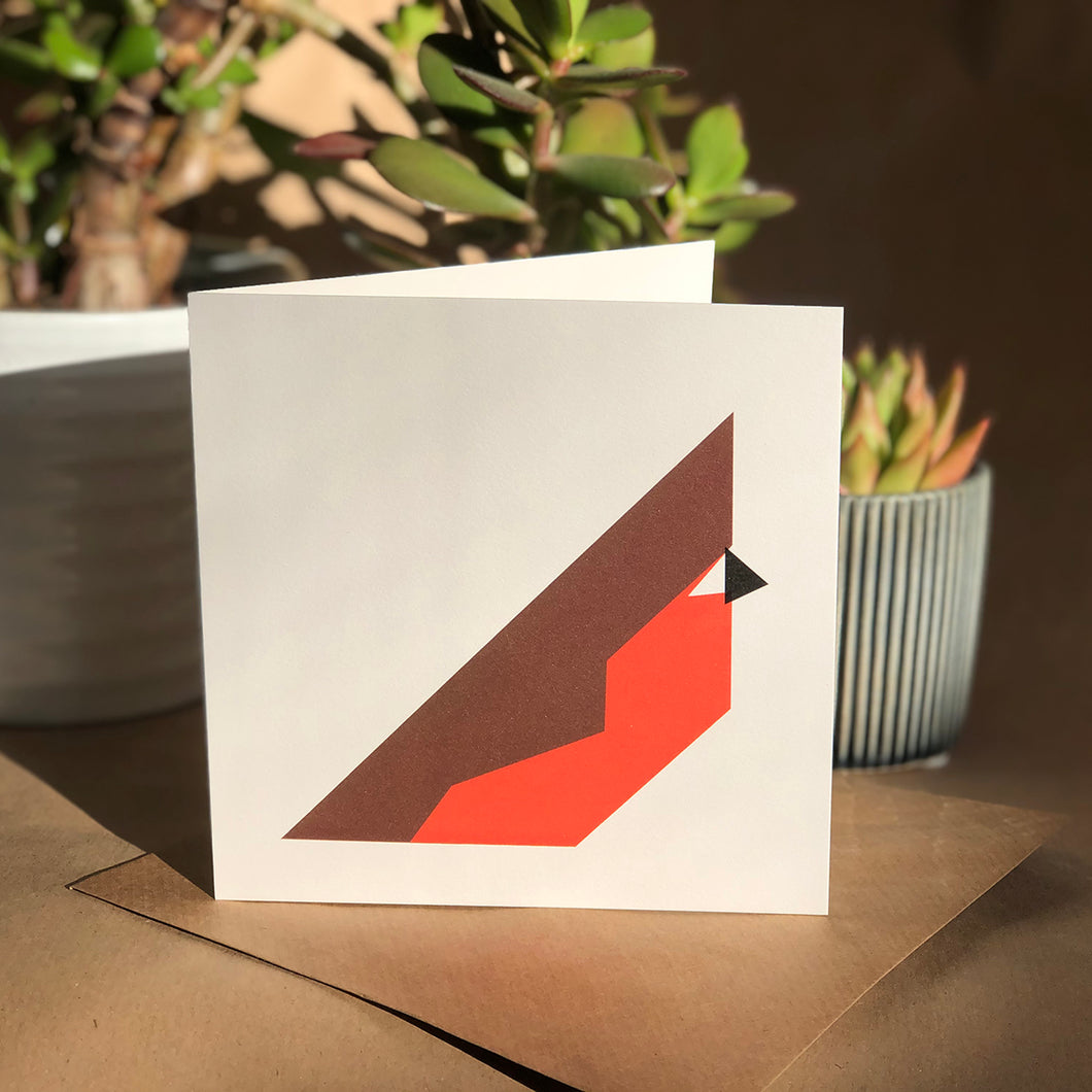 6 x Small Cards -Christmas Robins