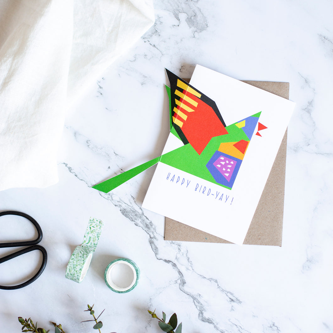 'Sticky-Out' Card - Rainbow Lorikeet