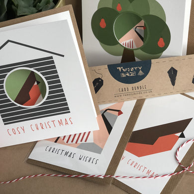 Christmas Card Bundle x 4