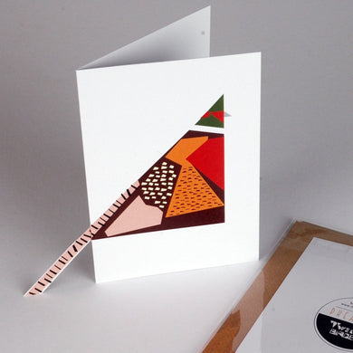 Small 'Sticky-out' Card - Pheasant