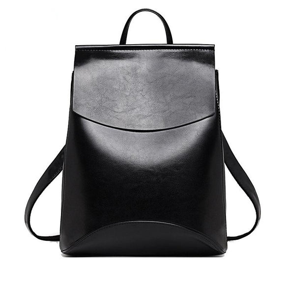Glossy Leather Backpack