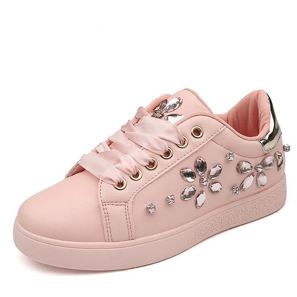 Studded Flat Sneakers