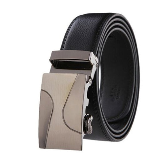 Luxury Leather Beige Buckle Belt