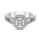 Leya Diamond Ring in White Gold - madeinUSAdiamonds