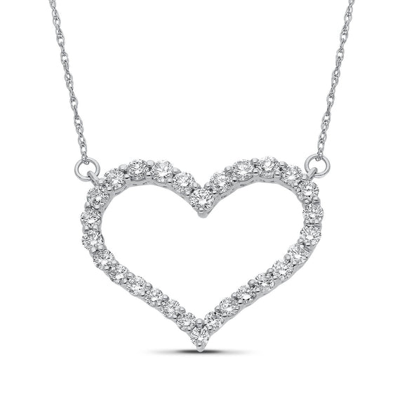 Aisha Diamond Pendant in White Gold - madeinUSAdiamonds