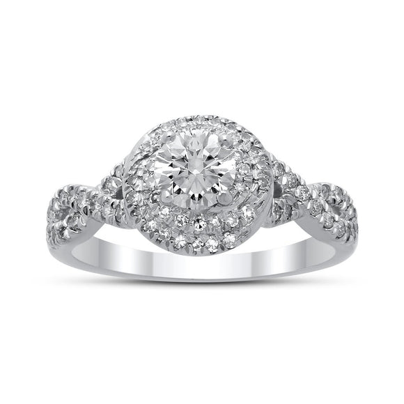 Sophia Diamond Ring in White Gold - madeinUSAdiamonds