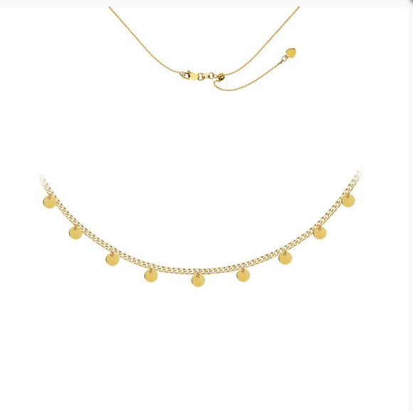 14kt Charm Necklace Choker