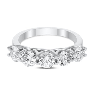 14kt Lab Grown Diamond 5 Stone Anniversary Band