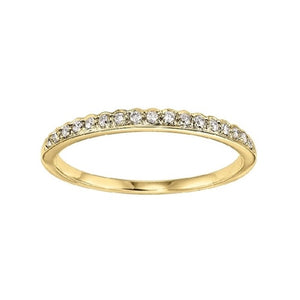 Yellow Gold Diamond Stacking Ring