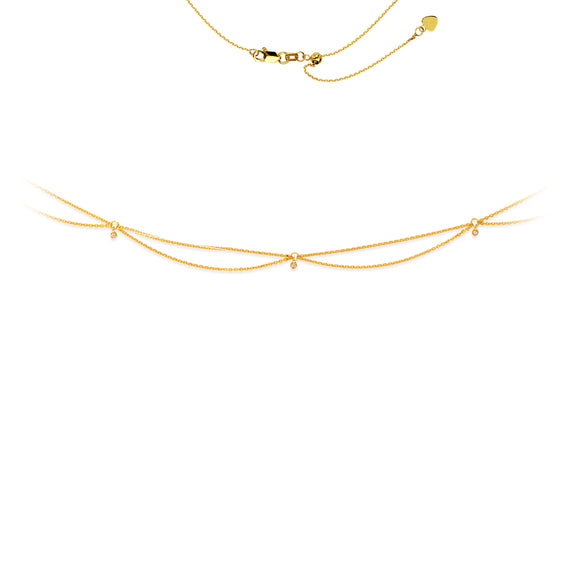 14kt Gold Drape Choker Necklace