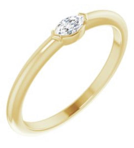 14kt Yellow Gold Marquise Diamond Ring