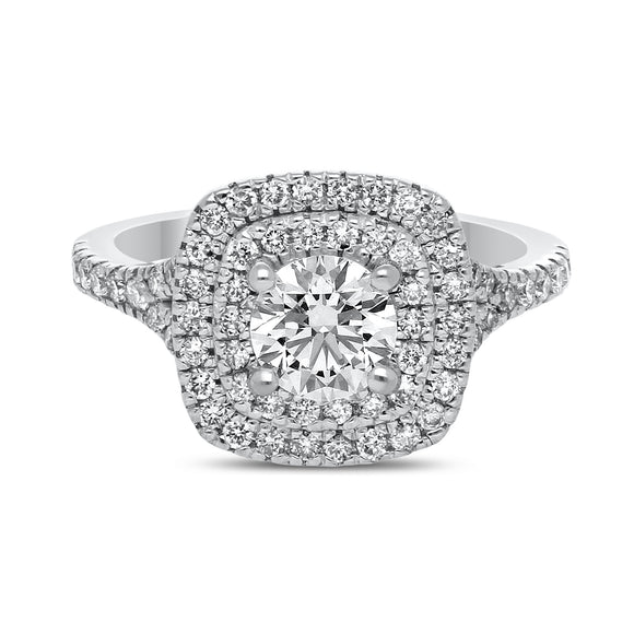 Double Halo Lab Grown Diamond Engagement Ring