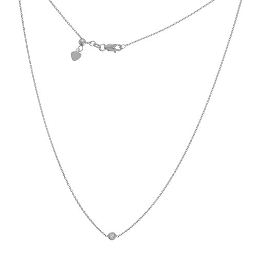 14kt Mini Diamond Solitaire Choker Necklace