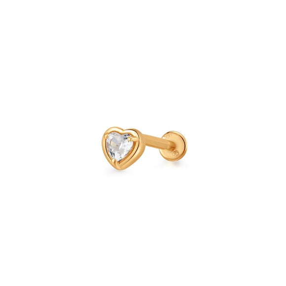 ARABELLA | White Sapphire Heart Single Piercing Earring
