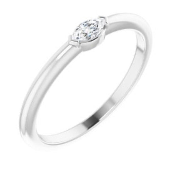 14kt White Gold Marquise Diamond Ring