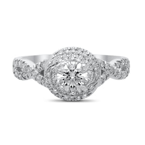 14kt white gold lab grown diamond engagement ring