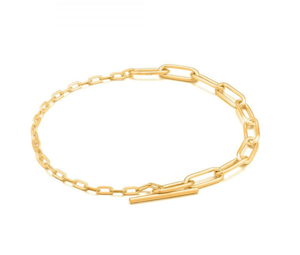 Ania Haie Mixed Link T-bar Bracelet