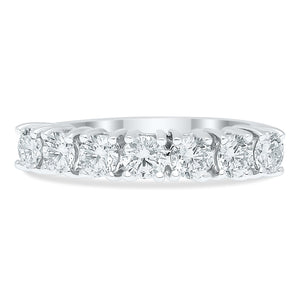 7 Stone Lab Grown Diamond Anniversary Band