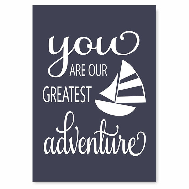 Creative Nautical Wood Sign Canvas Art Painting Posters ...
