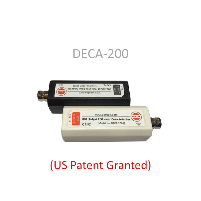 DECA-200 POE-over-Coax EOC Adapter Kit