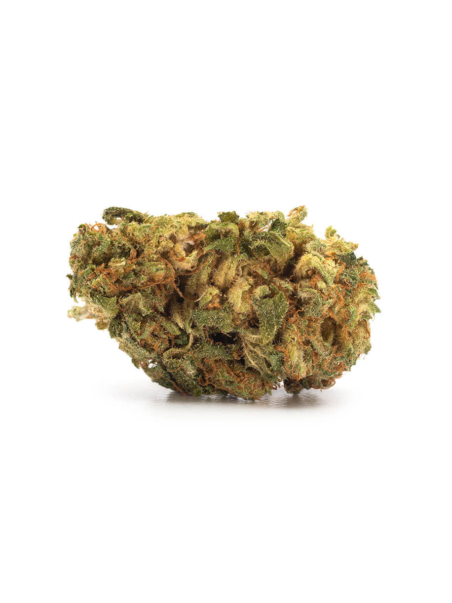 Indica-dominant with dense buds, Palm Tree CBD is earthy and musky thanks to high levels of the terpene myrcene. THC 4-13% CBD 6-12%. Sold by Prairie Records.