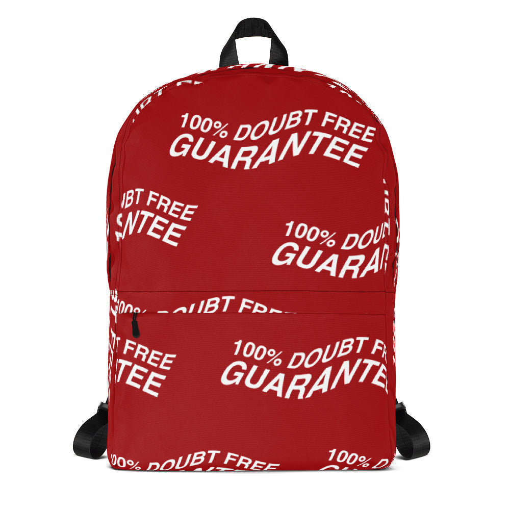 100% DOUBT FREE GUARANTEE - Red & White Backpack