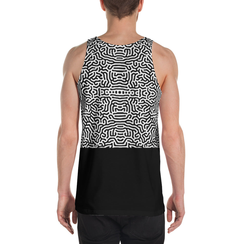 Growth Mindset Tank - Mens Black & White Tank Top