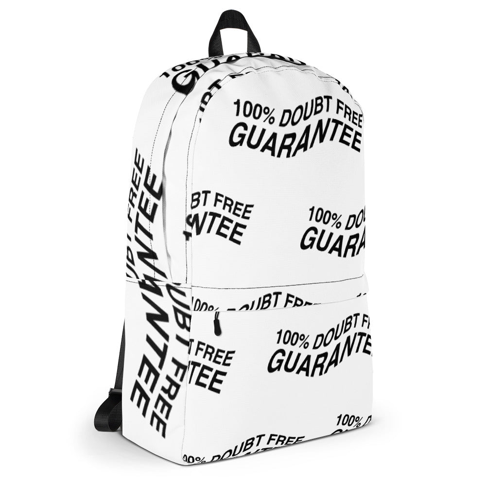 "100% DOUBT FREE ""ALL WHITE"" Backpack"