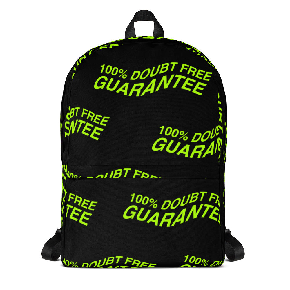 100% DOUBT FREE GUARANTEE Backpack - [RADIOACTIVE - Black]